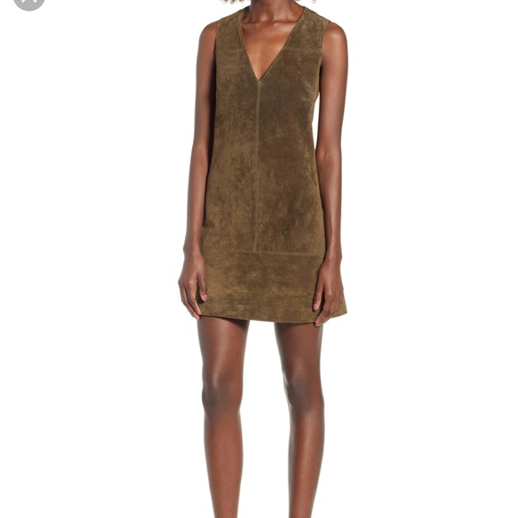 Blank NYC Dresses & Skirts - Amazing olive suede dress 😍